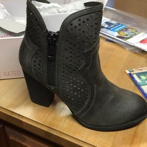 Not Rated Gretchen Charcoal Bootie Boot 10